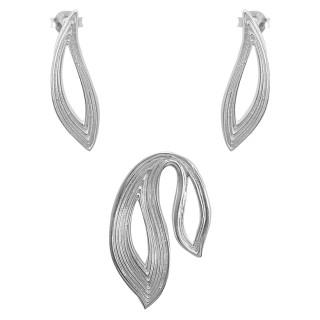 Lagerstroe - Silber Set plain - poliert