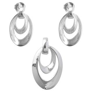 Lavanda - Silber Set plain - gebürstet
