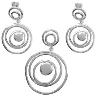 Agera - Silber Set plain - poliert