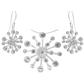 Campanula - Silber Set plain - poliert