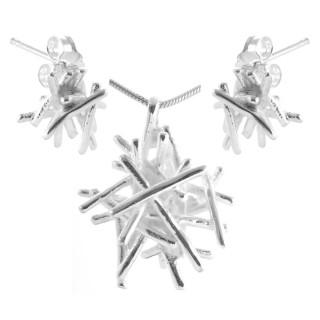 Cestrum - Silber Set plain - mattiert/poliert