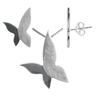Dianthus - Silber Set plain - gebürstet/poliert