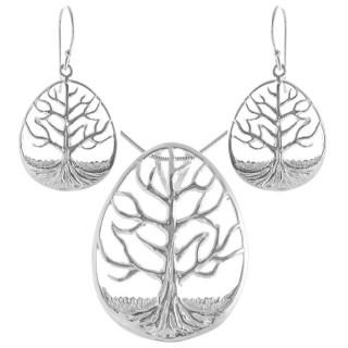 Hieracium - Silber Set plain - poliert