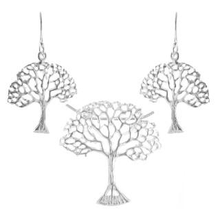 Palm - Silber Set plain - poliert
