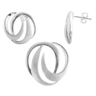 Caesalpinia - Silber Set plain - gebürstet/poliert