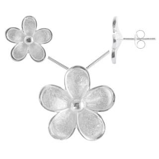 Silene - Silber Set plain - gebürstet/poliert