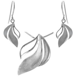 Anaphalis - Silber Set plain - gebürstet/poliert