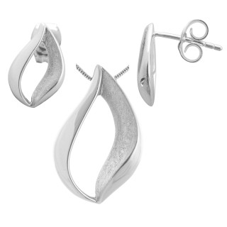 Maranta - Silber Set plain - gebürstet/poliert