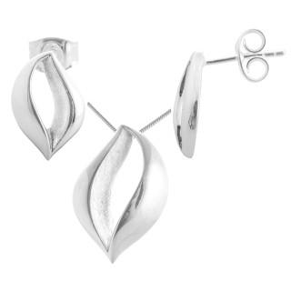 Lysimachia - Silber Set plain - gebürstet/poliert