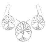 Paeonia - Silber Set plain - poliert