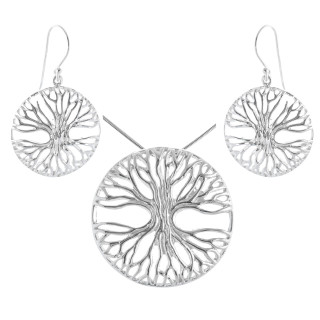 Phacelia - Silber Set plain - poliert