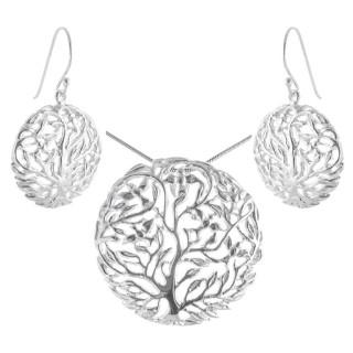 Crepis - Silber Set plain - poliert
