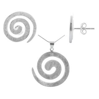 Camassia - Silber Set plain - gebürstet