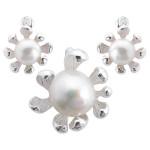Primula - Silber Set Perle - poliert