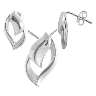 Gynura - Silber Set plain - gebürstet/poliert