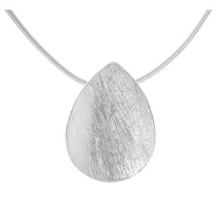 Abel - Silber Anhänger plain - gebürstet