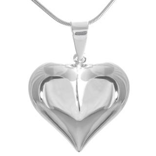 Adrian - Herz Silber Anhänger plain - poliert