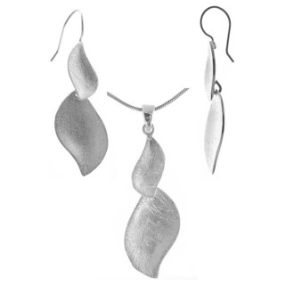 Panice - Silber Set plain - gebürstet