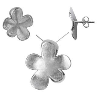 Primula - Silber Set plain - mattiert/poliert
