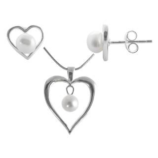 Gili - Silber Set Perle - poliert