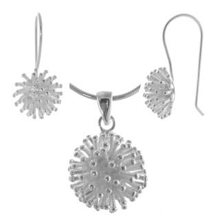 Aponica - Silber Set plain - mattiert/poliert