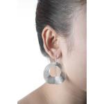 Bonnie - Silber Ohrringe plain - gebürstet
