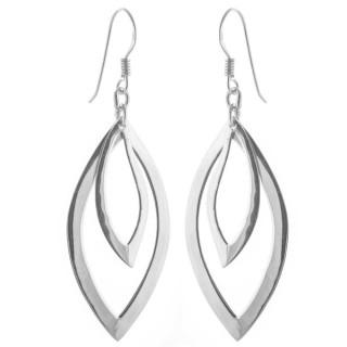 Brenda - Silber Ohrringe plain - poliert
