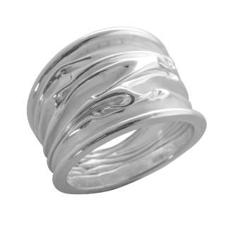 Phyteme - Silberring plain - mattiert/poliert