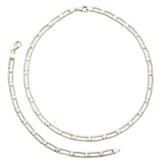 S16800-Silber Collier-Armband