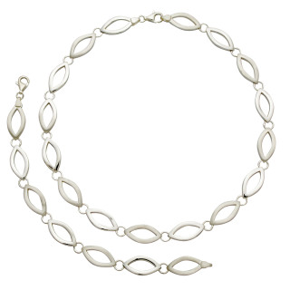 S19800-Silber Collier-Armband