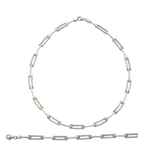 S40100-Silber Collier-Armband