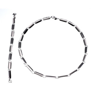 S60700-Silber Collier-Armband