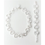 S90500-Silber Collier-Armband
