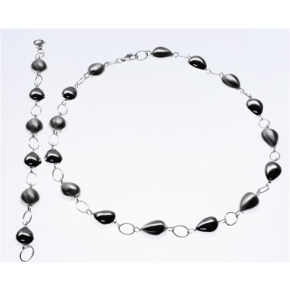 S61800-Silber Collier-Armband