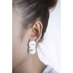 Mira - Ohrring - gebürstet - Silber Ohrringe plain - gebürstet