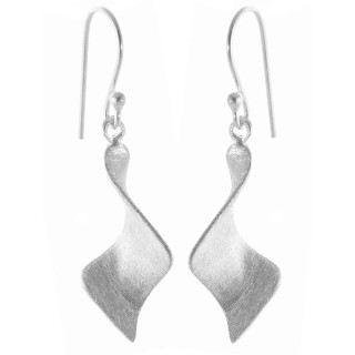 Bilis - Ohrring - gebürstet - Silber Ohrringe plain - gebürstet