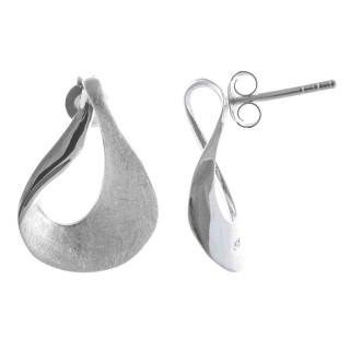 Aden - Ohrring - gebürstet und poliert