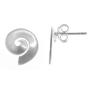 Muscari - Ohrstecker - mattiert - Silber Ohrstecker plain - mattiert