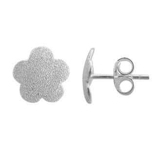 Aledo - Ohrstecker - diamantiert - Silber Ohrstecker plain - diamantiert