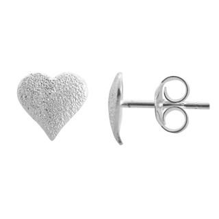 Alton - Ohrstecker - diamantiert - Silber Ohrstecker plain - diamantiert