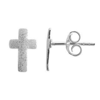 Arp - Ohrstecker - diamantiert - Silber Ohrstecker plain - diamantiert