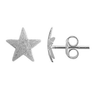 Austin - Ohrstecker - diamantiert - Silber Ohrstecker plain - diamantiert