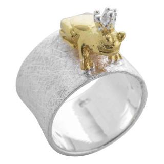 Telekia - Ringe - gebürstet und poliert - Silberring plain - gebürstet/poliert