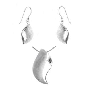 Eni - Silber Set plain - gebürstet/poliert