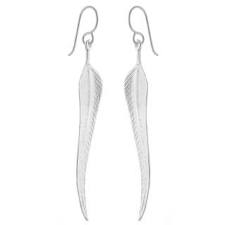 Silber Ohrringe - Mawe - mattiert und poliert