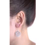 Silber Ohrringe - Spirale-unten - gebürstet