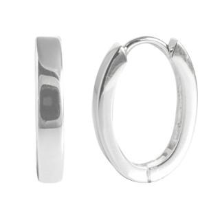 Creole Oval Form - Silber Creolen - poliert
