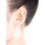 Mandala - Silber Ohrringe plain - mattiert