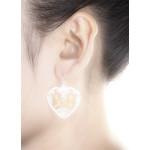 Love-Herz-vergoldet - Silber Ohrringe plain - mattiert