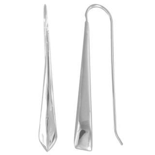 Lo - Silber Ohrringe plain - poliert